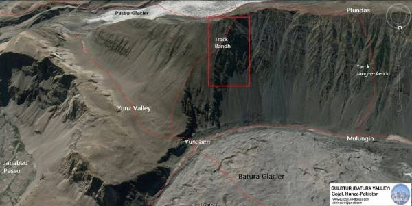 A map of the region where the accident took place. Coutesy: Ali Rehmat Musofer