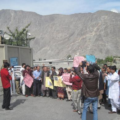 Protesters demand revocation of Anti-Terrorism laws from Gilgit-Baltistan