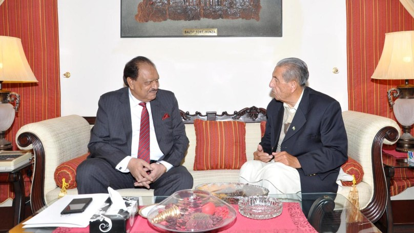 President Mamnoon reached Gilgit on a two-day visit, met Governor and CM