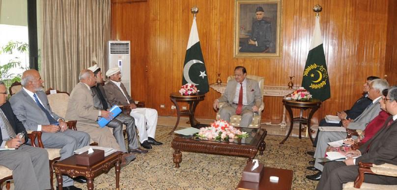 Renowned mountaineer Hassan Sadpara calls on the President of Pakistan at Aiwan-e-Sadar