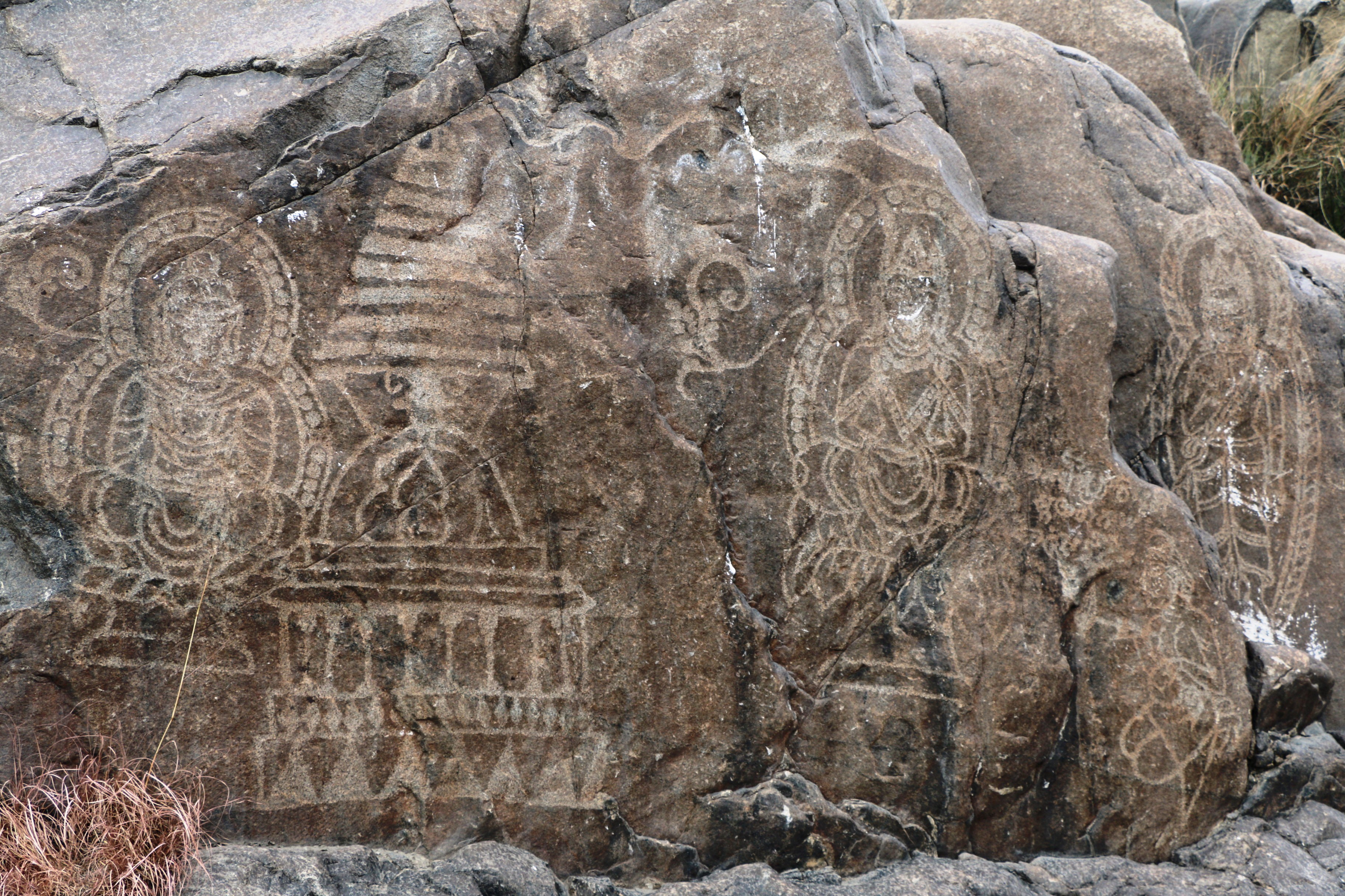 Chilas vandals destroy centuries old rock carvings