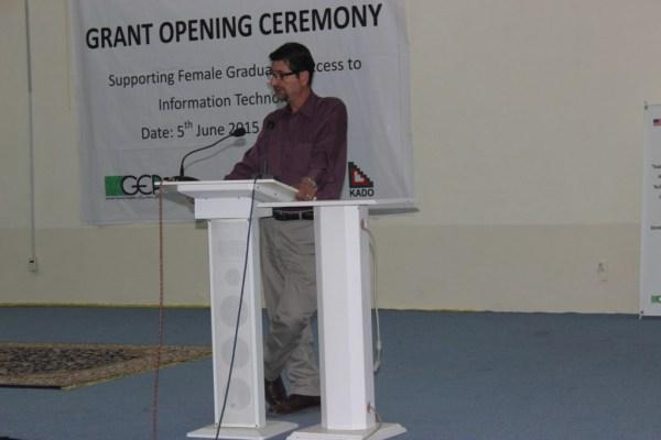 Amjad Ayub Chairman KADO addressing