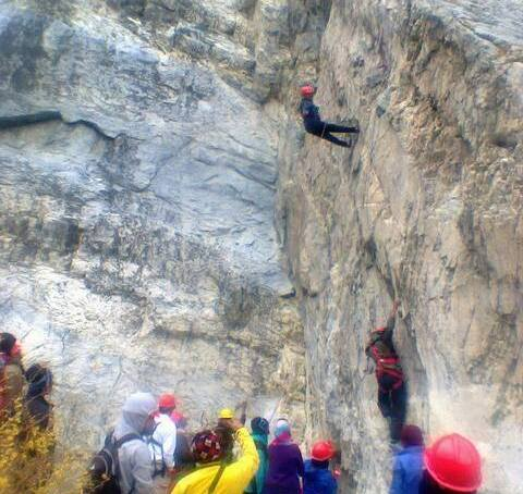 Passu: Search and rescue volunteers trained in rock and ice climbing