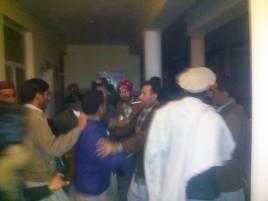 Scene of the scuffle