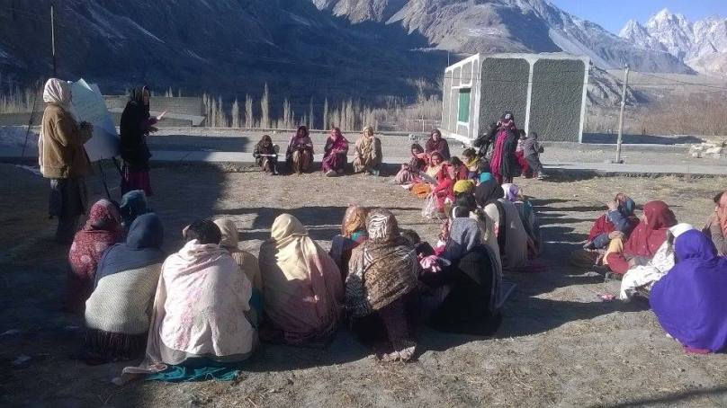 Women discuss issues during session in Shishkat
