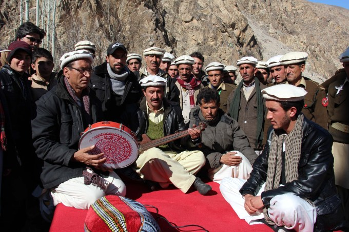 Locals read the devotional poetry of Pir Nasir Khusraw, the Fatimid era preacher and intellectual