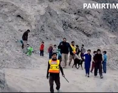 Rescue 1122 saves a goat stuck at a mountain in Shigar valley, Baltistan