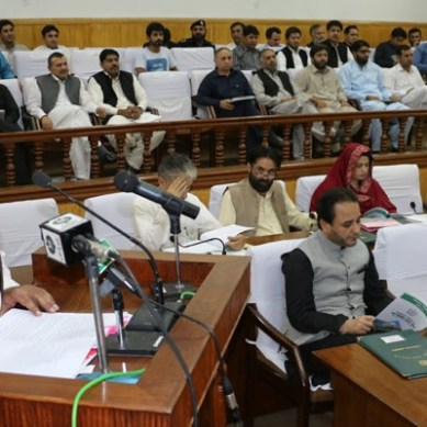 43 bn rupees GB budget presented, 70% non-developmental expenditures, including wheat subsidy