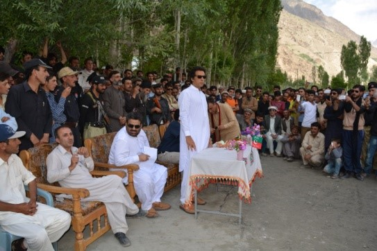 PTI Chief Imran Khan spends busy day in Chitral