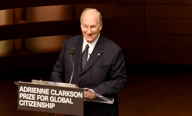 His Highness the Aga Khan addresses the gathering on the challenges of global citizenship today. VAZIR KARSAN