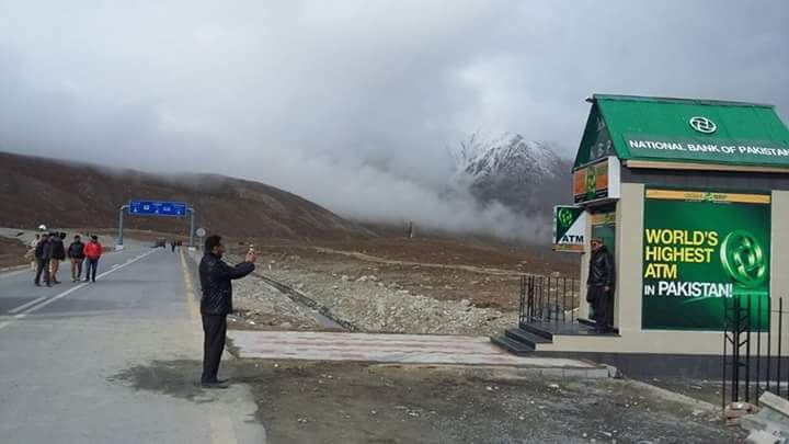 NBP trashed by netizens for installing ATM in Khunjerav National Park and boasting about it