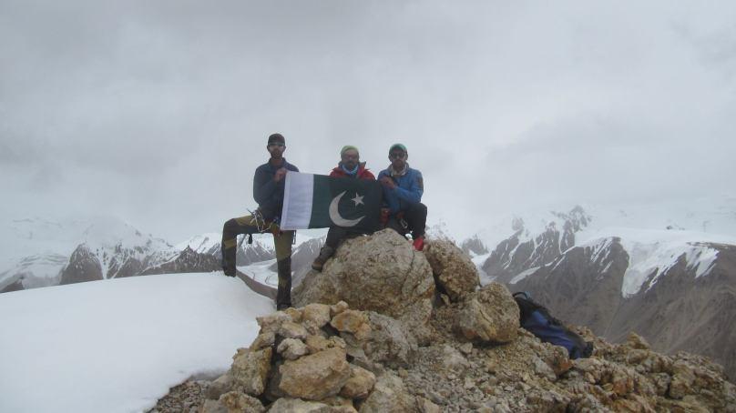 Three Shimshalirock climbers summit 6000 m high 'Sher Peak'