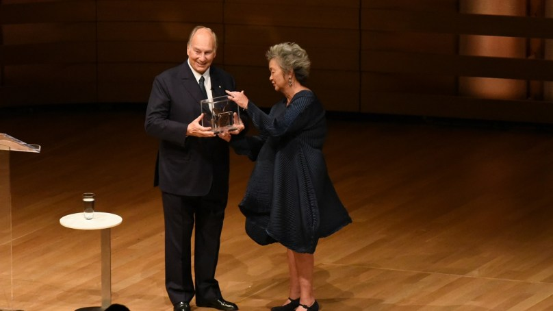 His Highness the Aga Khan receives the Adrienne Clarkson Prize for Global Citizenship