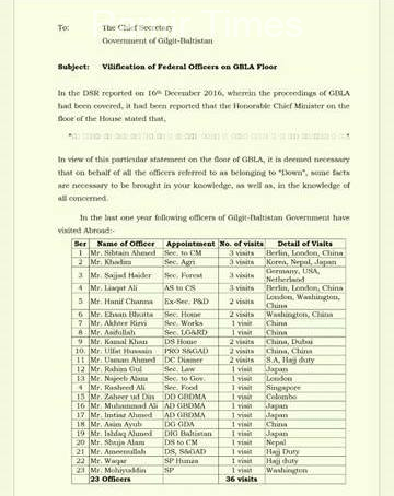 GB contributes 9 billion and receives above 40 billion from federal exchequer, letter of federal officers to chief secretary reveals