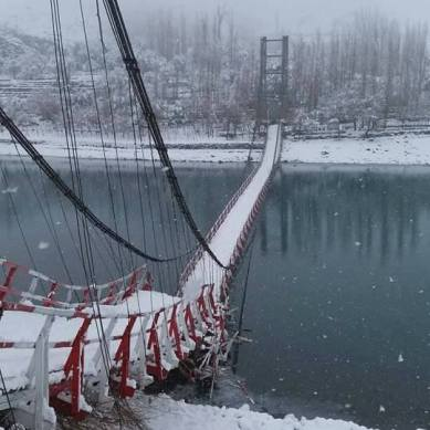 Skardu: Bridge inaugurated in July 2016 collapses due to snowfall