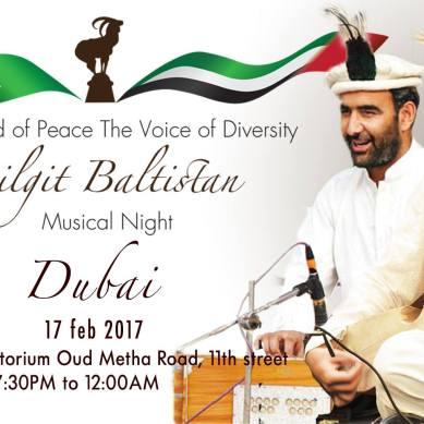 Dubai to host Gilgit Baltistan Musical Night on February 17