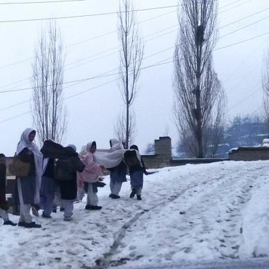 Heavy snowfall cripples life in Hopper and Nagar Khas