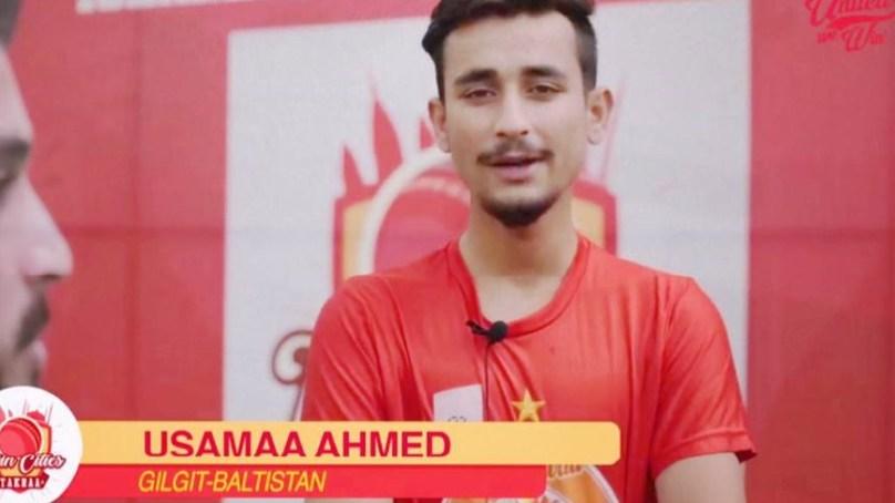 Usama Ahmad from Diamer selected in Islamabad United cricket team