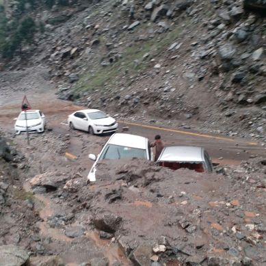Debris flow damages two cars on Babusar Road, various valleys experiencing floods in Gilgit-Baltistan