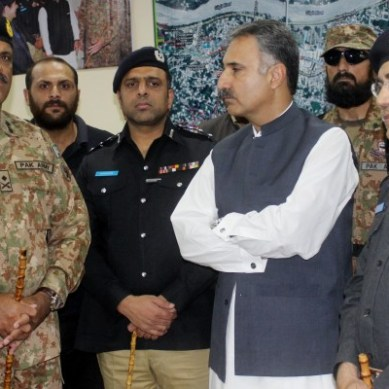 Commander FCNA reviews Muharram security arrangements