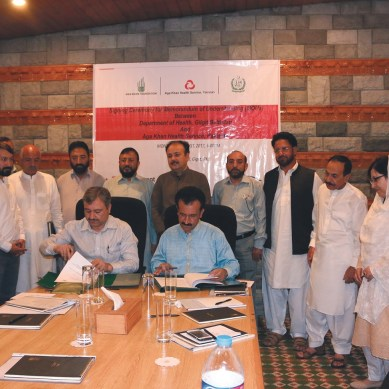 Aga Khan Health Services and Gilgit-Baltistan Govt join hands to strengthen health systems in the GB region