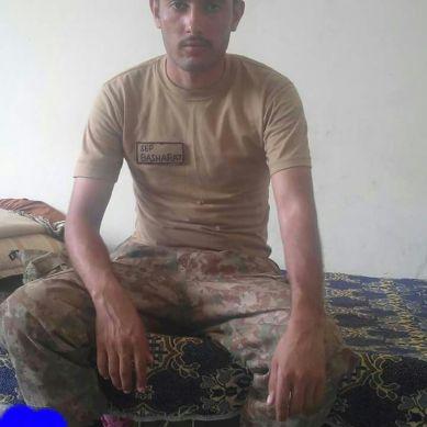 Sepoy Basharat, 21, from Gilgit embraced shahadat in North Wazirstan Agency