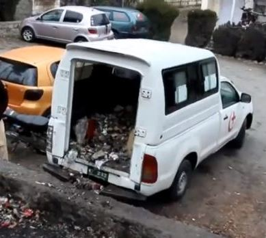 Gilgit Hospital uses ambulance to dump garbage