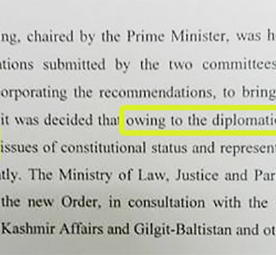 """National Interest, Diplomatic Obligations"": Islamabad decides to continue Gilgit-Baltistan's constitutional limbo"