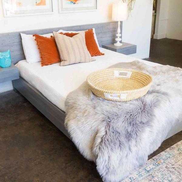 Iris bed reclaimed wood