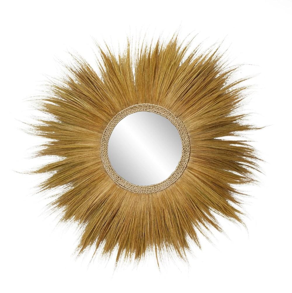 Grass Wall Mirror Brown