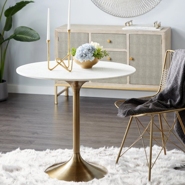 Metal Marble Dining Table