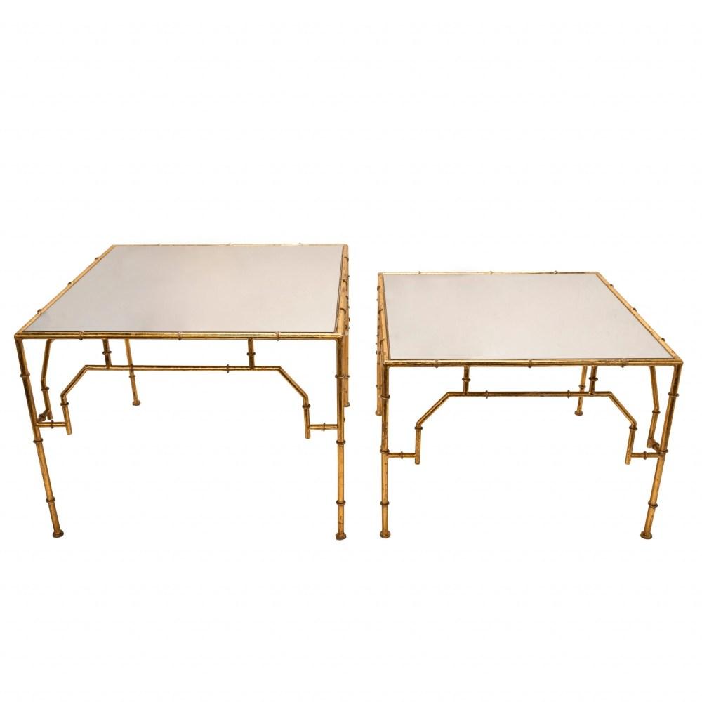 Montfort Square Gold Accent Tables - Set of 2
