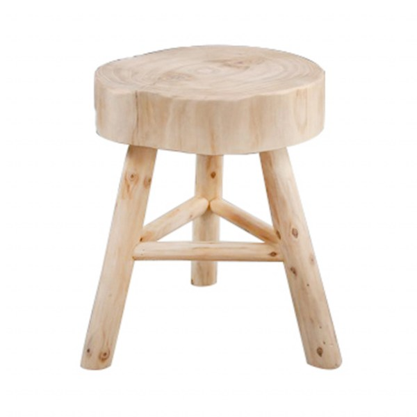 """Wooden 16"""" Stool Accent Table"""