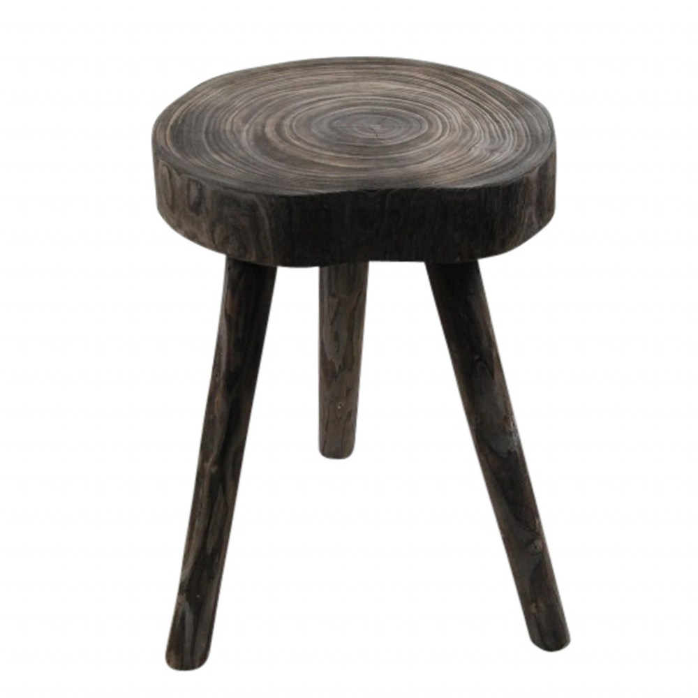 Baru Wooden Accent Table - Grey
