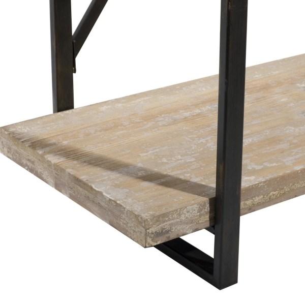 Metal And Wood Shelf