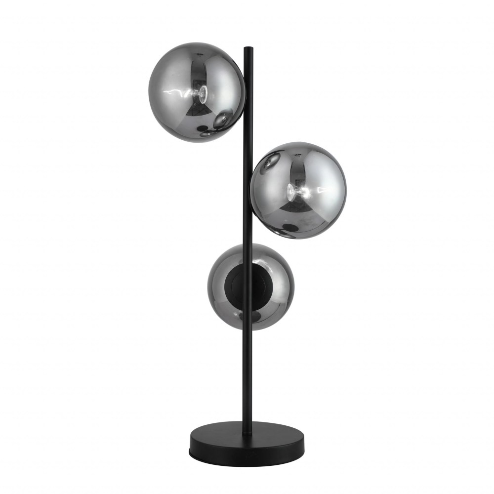 Stanford Table Lamp With Smoke Glass Shade