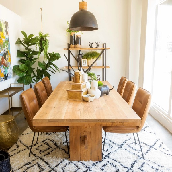 Alec reclaimed wood dining table