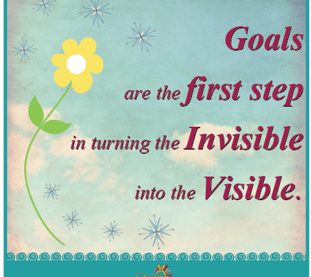 Goals are the first step