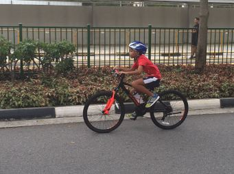 My youngest son, Clement at the 5-9 years old category.