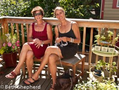 Mary and Janis on the deck