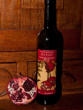 Pomegranate and Revah Pomegranate Wine