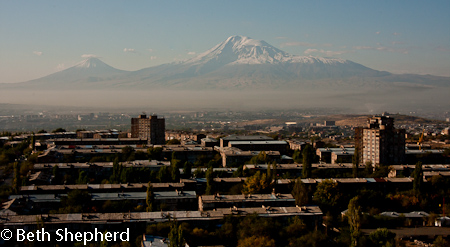 Mt. Ararat from Yerevan, Armenia