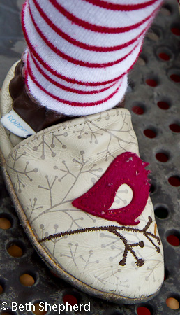 Baby Bird holiday shoes