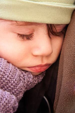Sleeping baby in Armenia