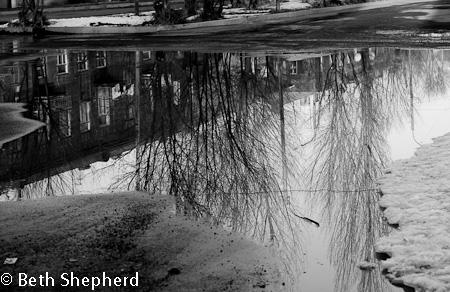 Gyumri Armenia puddle reflection