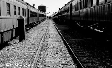 Train on the tracks at Strasburg Rail Road