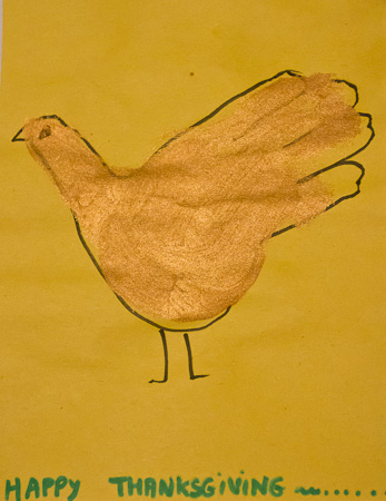 Happy Thanksgiving turkey drawing