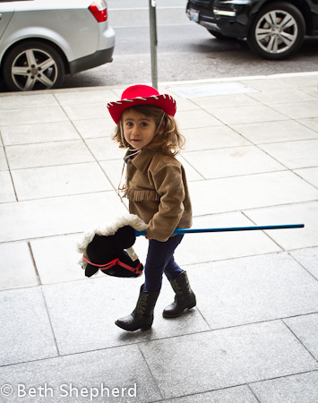 Our cowgirl and her faithful pony