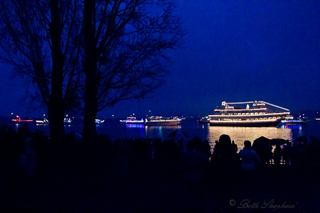 Seattle Christmas ships at Madison Park beach