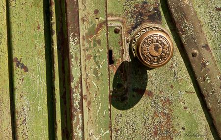 Brass doorknob in Gyumri